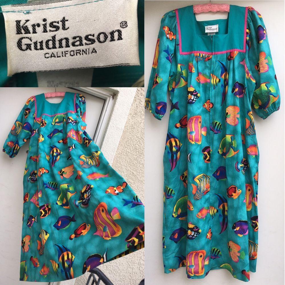 Krist Gudnason Dress Vintage 70s Maxi Boho Patchwork Dress Sz M