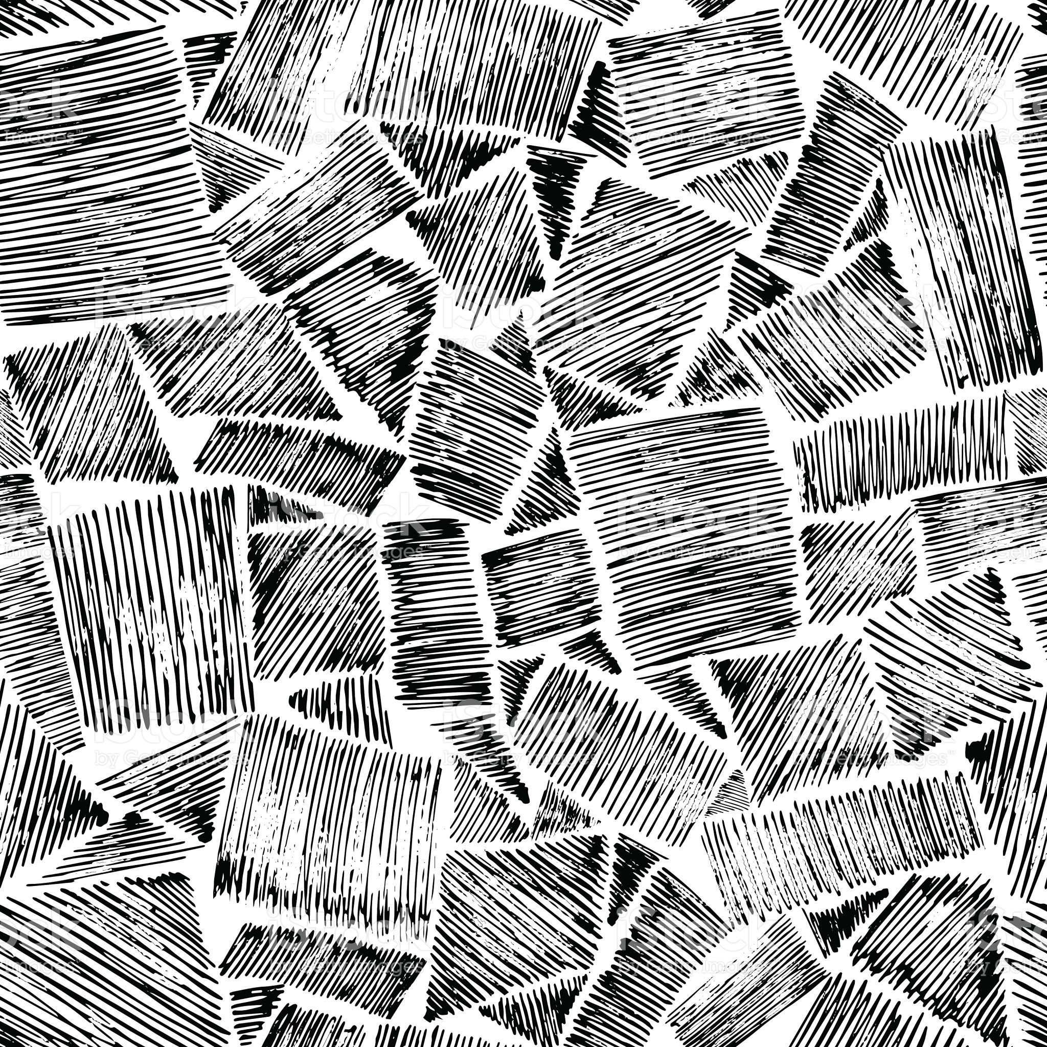 Hand Drawn Backgrounds Vector Illustration Rough Hatching