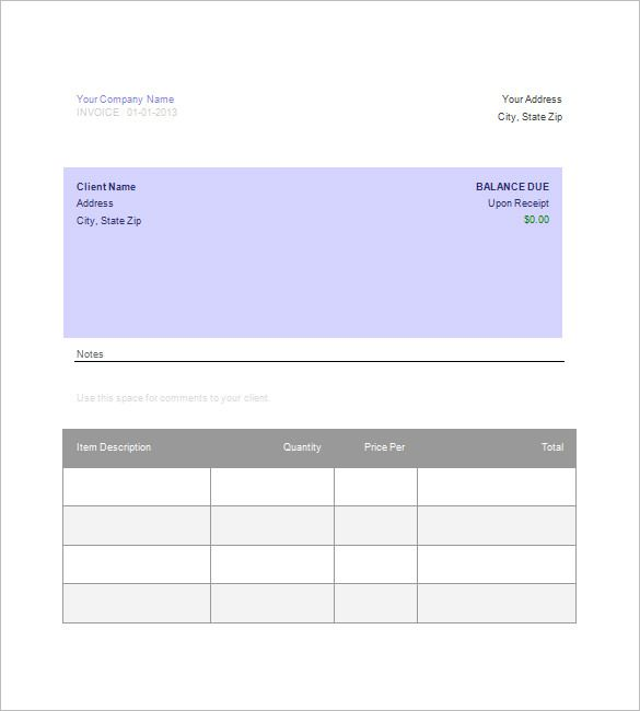 google docs templates invoice , Download Invoice Template Google - blank invoice template doc
