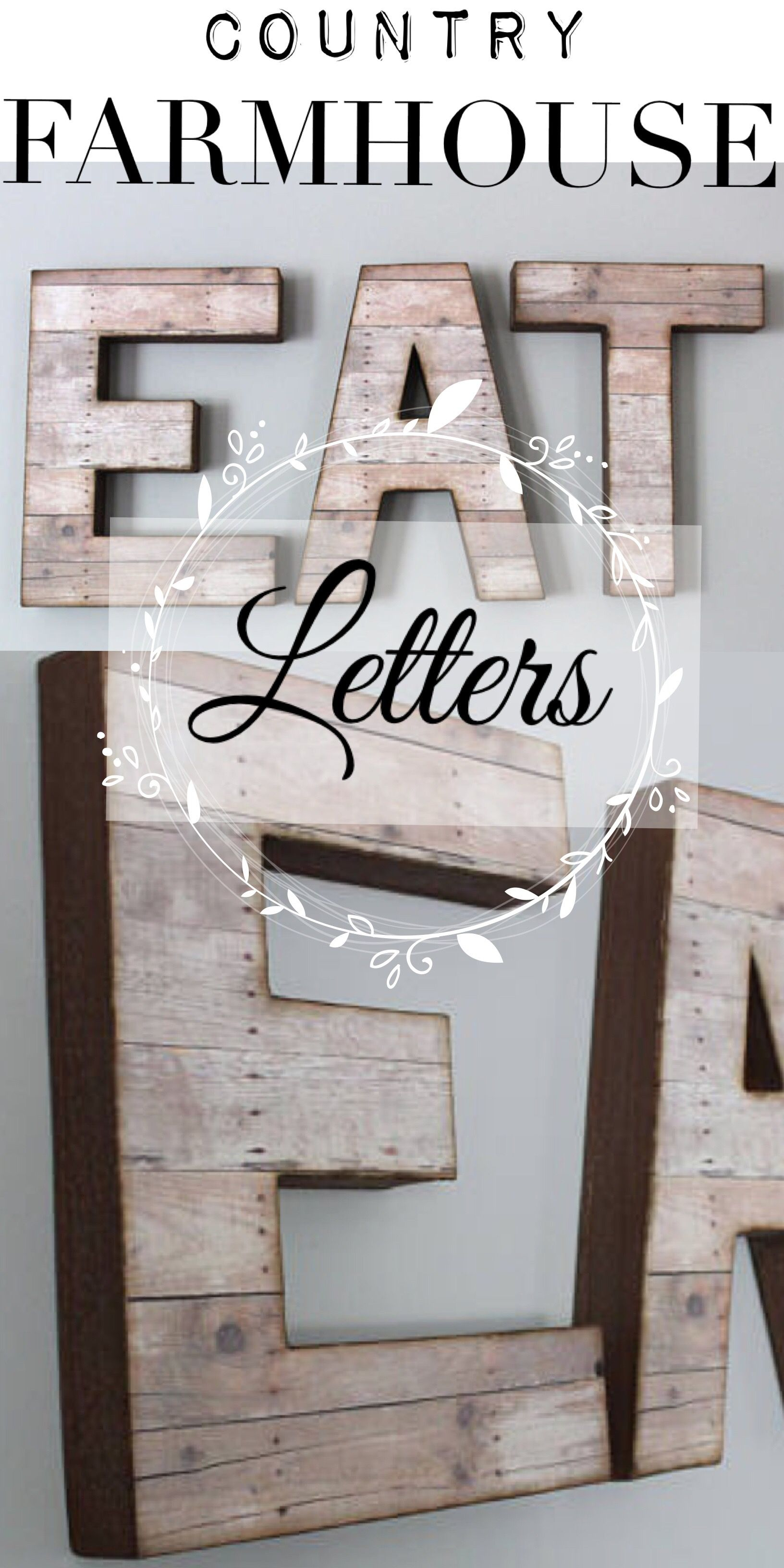Kitchen Letters For Wall Glamorous Ad Farmhouse Style Country Kitchen Letterseat Signbig Design Decoration
