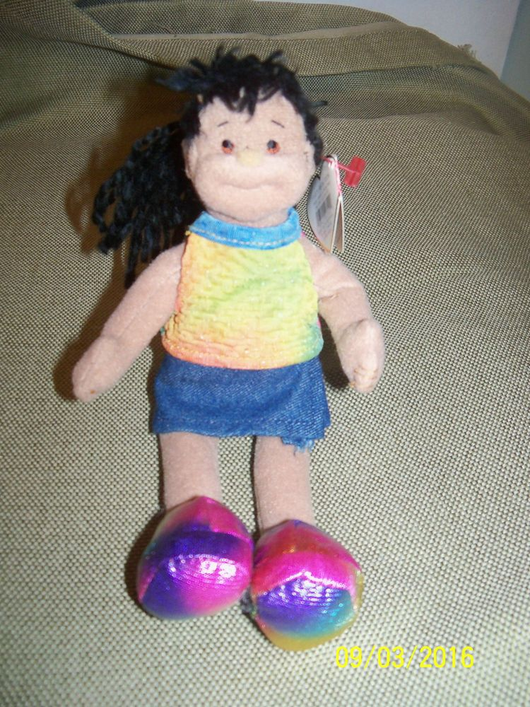 0b19e63ff6c TY Beanie Bopper JAZZY JESSIE soft Afro-American Doll 8