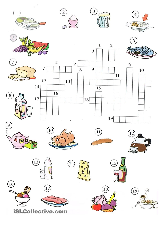 Essen Speisen Kreuzworträtsel