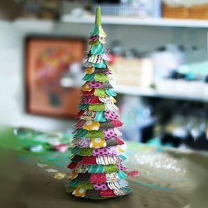 8 ides pour crer des dcorations de nol en forme de sapin - Idee De Deco Pour Noel