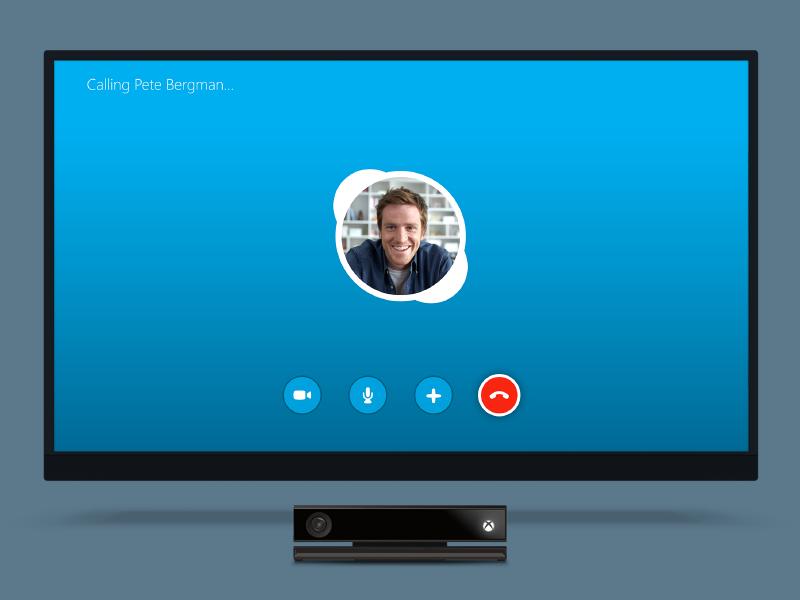 Skype for Xbox Calling Screen Tv app, Screen, Screen design
