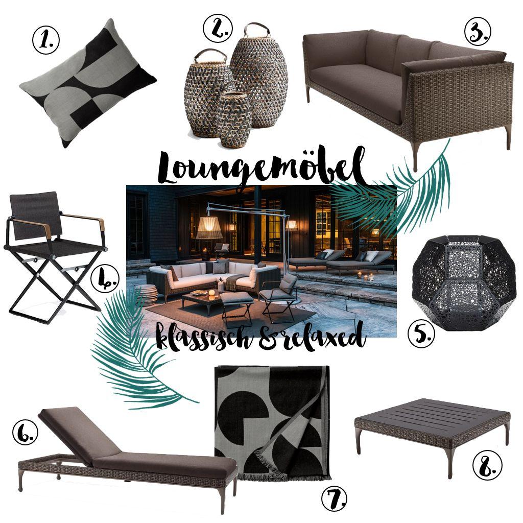 loungem bel 3 looks f r terrasse und garten von design bestseller outdoor garden balcony. Black Bedroom Furniture Sets. Home Design Ideas