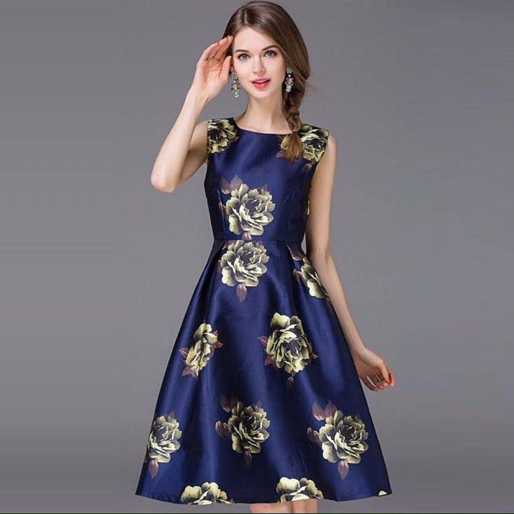 One Shoulder Western Dress