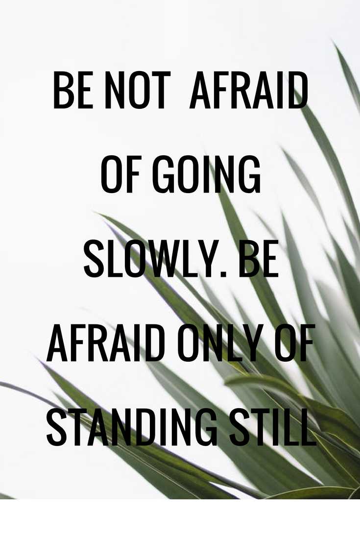 Be Not Afraid Of Going Slowly Be Afraid Only Of Standing Still  Be Not Afraid Of Going Slowly Be Afraid Only Of Standing Still Persuasive  Essays High School Essay Topics also High School Essay Format  Compare And Contrast Essay Topics For High School Students