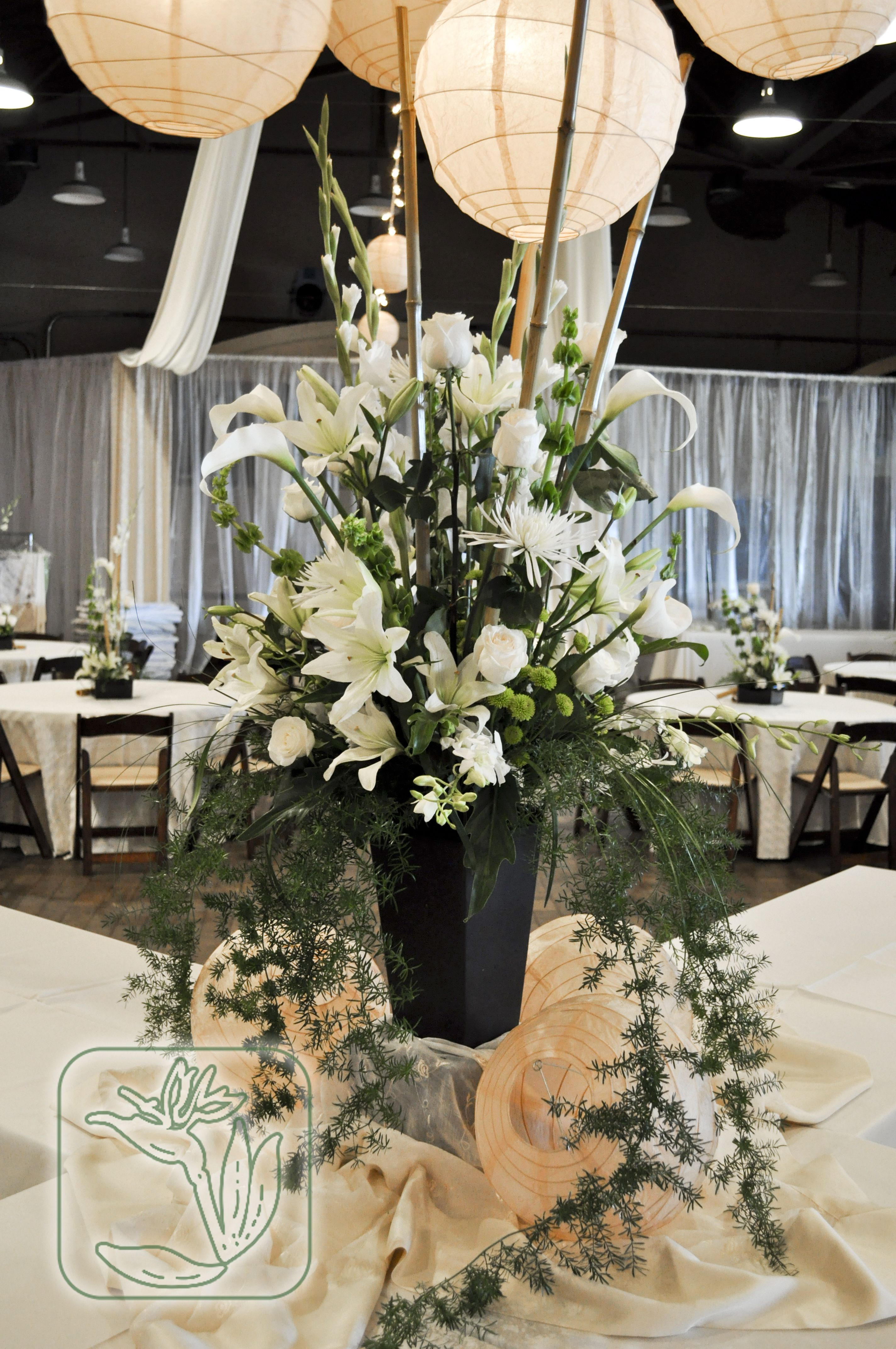 Utah Wedding Event Buffet Table Centerpiece White And