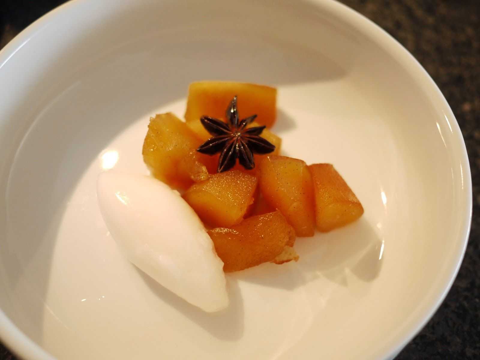 Poached Quinces