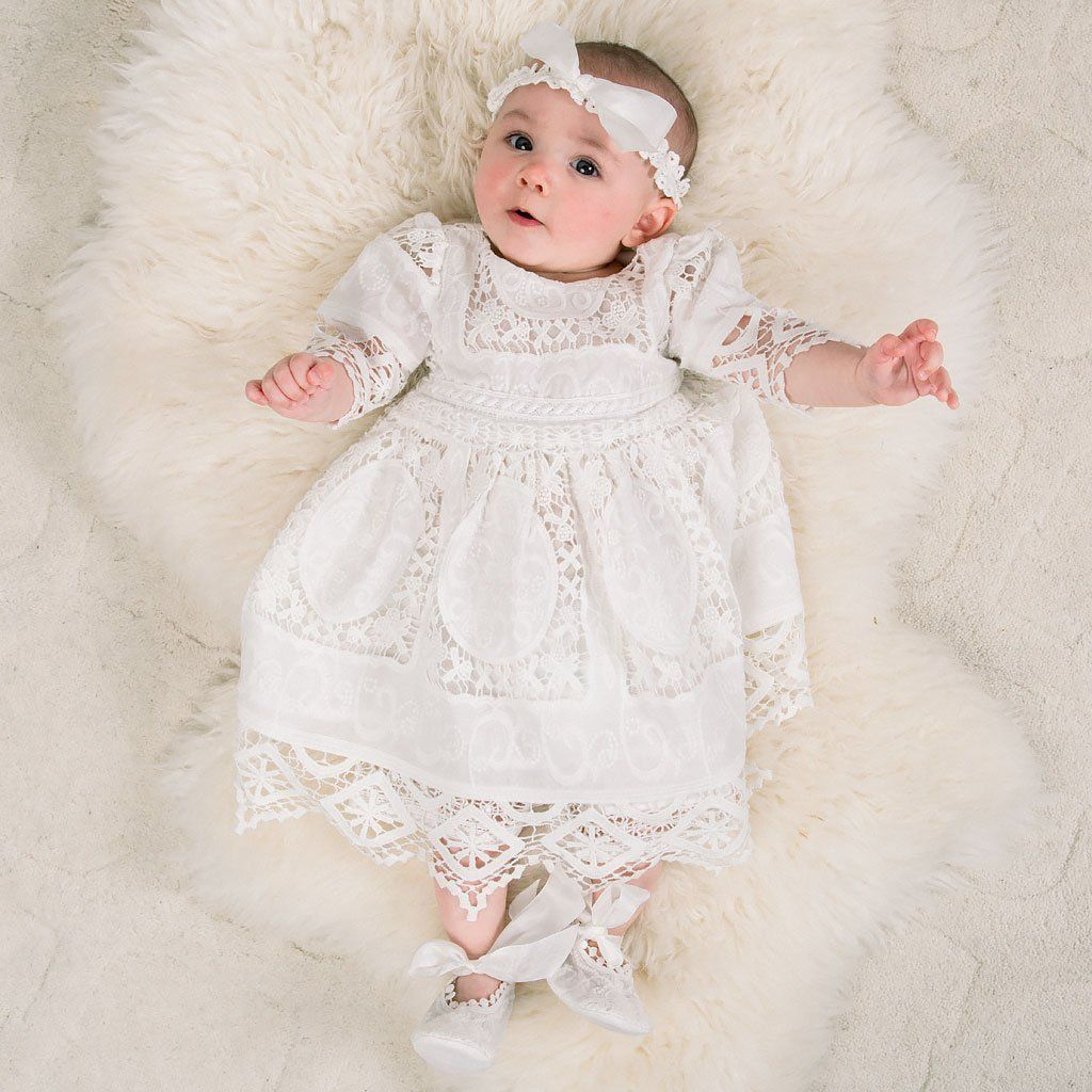 Boutique Collection Baby Girls Knit Christening Bloomer W//Flower Detail