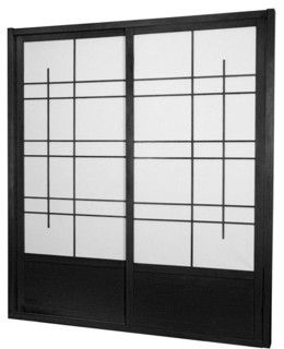 Eudes Shoji Sliding Door Kit comes with two sliding doors top and