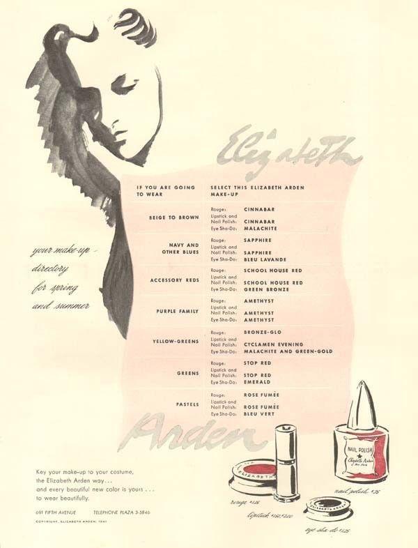 vintage ELIZABETH ARDEN Makeup BEAUTY Cosmetic MAKE-UP Nail Polish ...