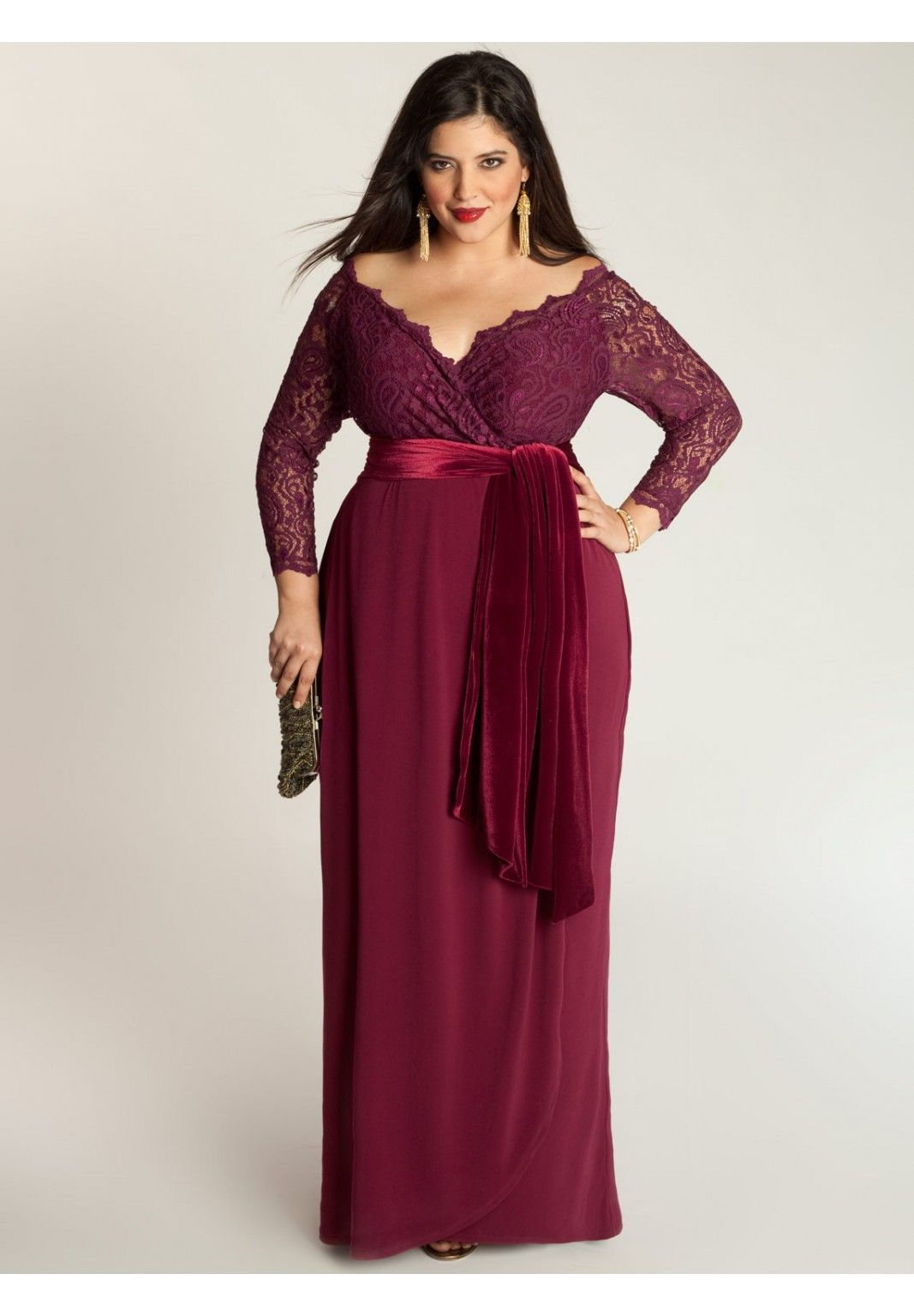 Plus size dresses for a wedding  Anastasia Gown in Ruby BeckZadik wedding  Dresses just cuz
