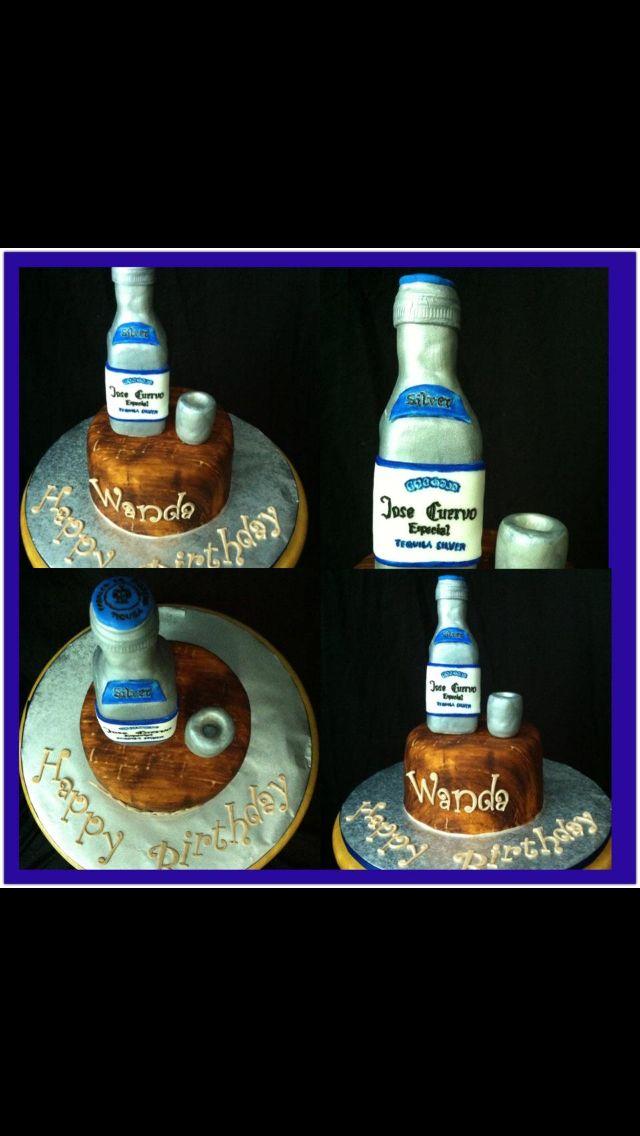 Tequila Bottle Themed Cake