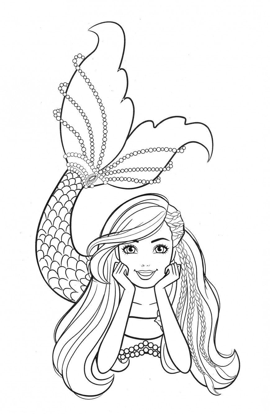 Barbie Mermaid Coloring Pages In 2020 Mermaid Coloring Pages Barbie Coloring Pages Mermaid Coloring