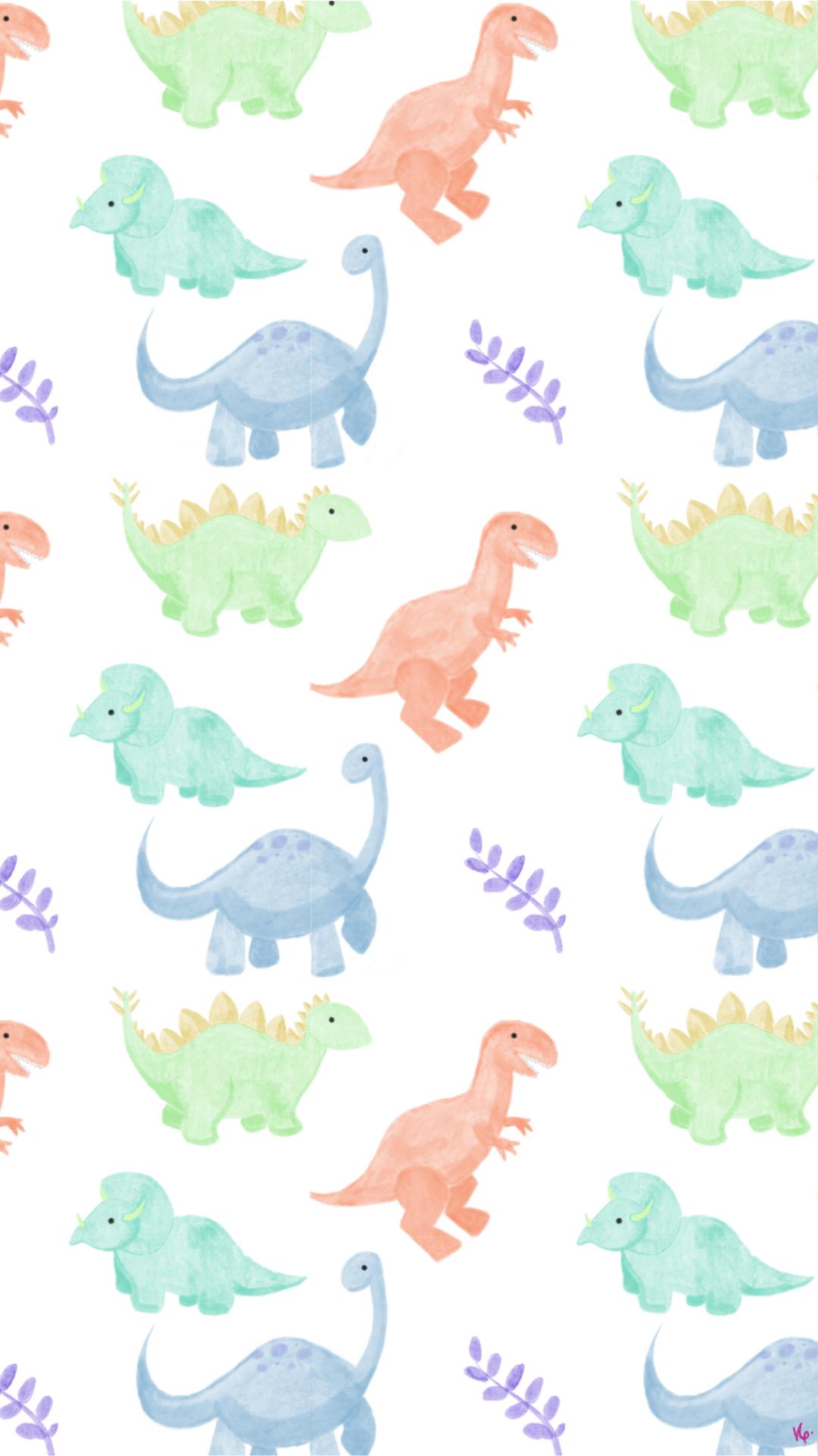 Watercolor Dino Wallpaper Dinosaur Background Iphone Wallpaper Photography Dinosaur Wallpaper