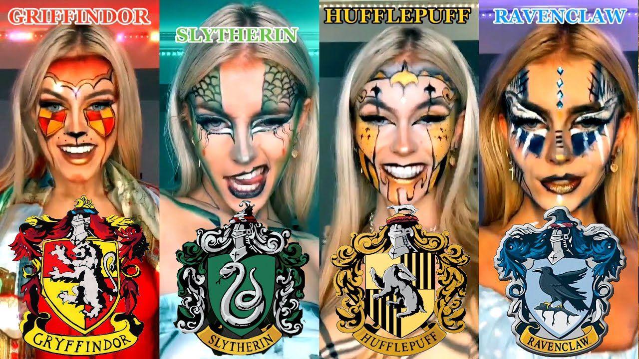 Harry Potter Tik Tok Makeup And Cosplay Challenge Tiktok Challenge Youtube Harry Potter Eyeshadow Harry Potter Makeup Harry Potter