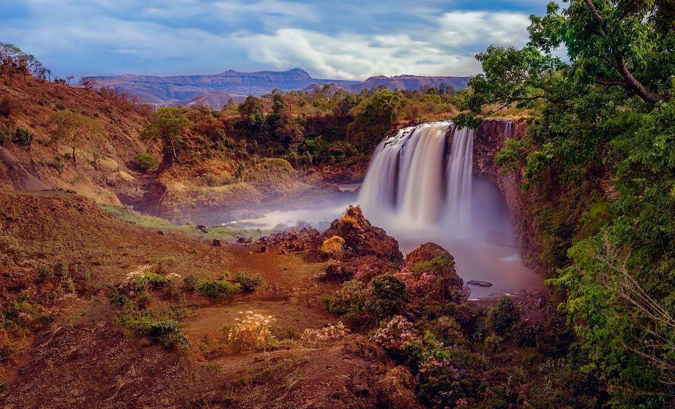 Las cataratas del Nilo Azul (Etiopía). Las llaman 'Tis Abay' en amárico que significa 'agua humeante'. Es una lástima que no se escuche el ruido. Fot.: Csilla Zelko #paisaje #landscape #cataratas #fall #nilo #nile #etiopia #ethiopia