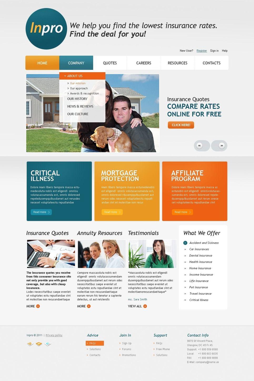 Insurance psd template 56518 psd templates psd templates