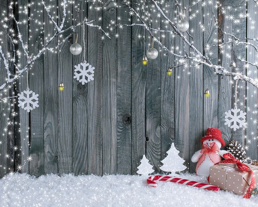 Christmas Background Cloth Snows Santa Claus Home Decor Photo Studio Fabric