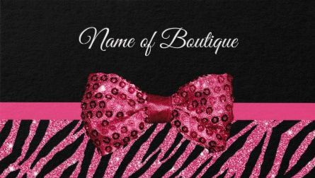 Chic boutique pink glitter zebra print luxe sequin bow business chic boutique pink glitter zebra print luxe sequin bow business cards direct link https reheart Choice Image