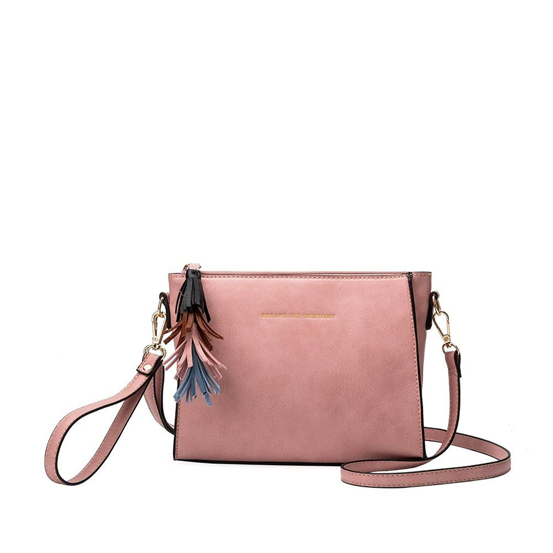 9b218cc3c6a0 Melie Bianco Byron Designer Convertible Crossbody W  Embroidered Quote   Handbags  Amazon.com