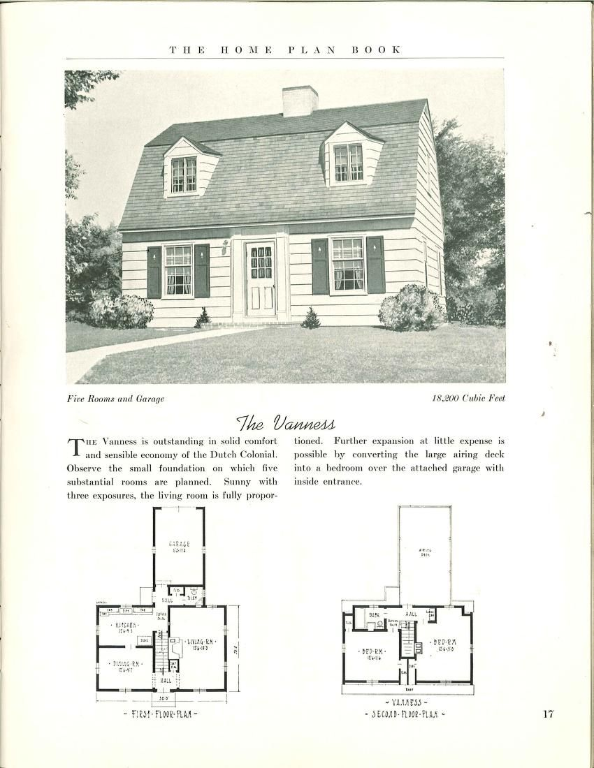 The Home Plan Book 1939 Dutch Colonial Homes Colonial House