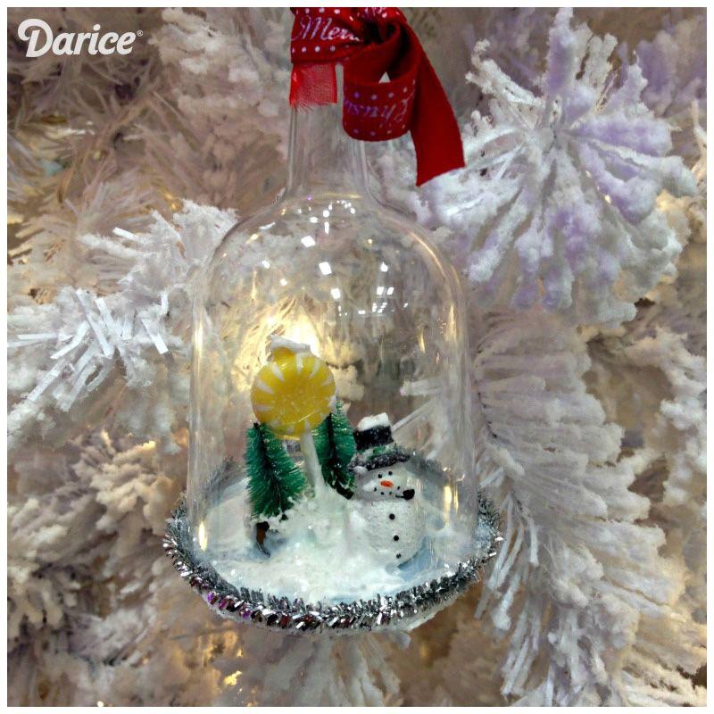 DIY Snow Globe Christmas Ornaments Diy snow globe, Snow