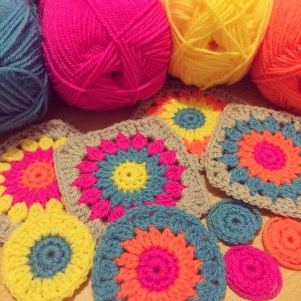#Crochet motifs from forever__autumn__