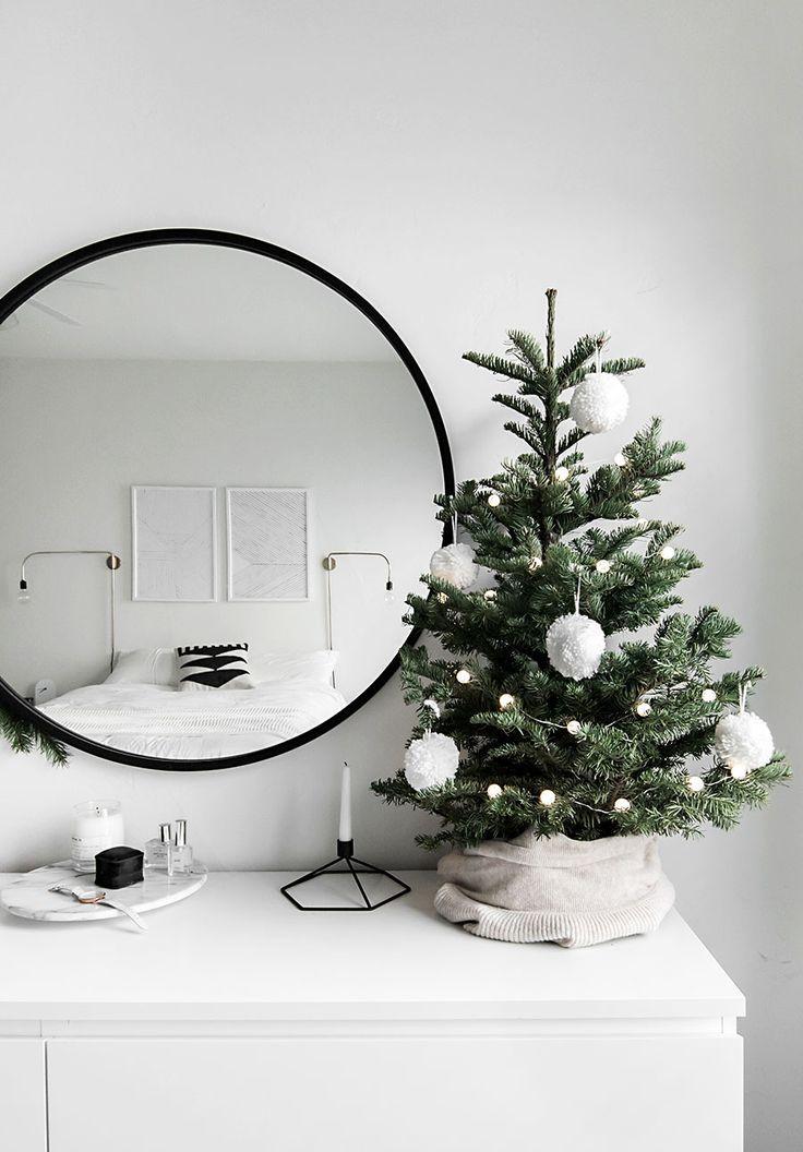 Christmas in the Bedroom Mini christmas tree, Christmas tree and - white christmas tree decorations