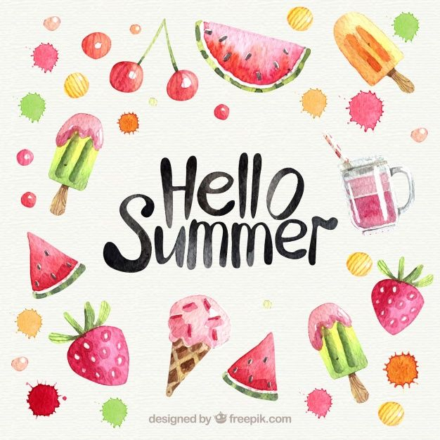 Download Watercolor Fruits Background For Free Watercolor Fruit Hello Summer Summer Wallpaper