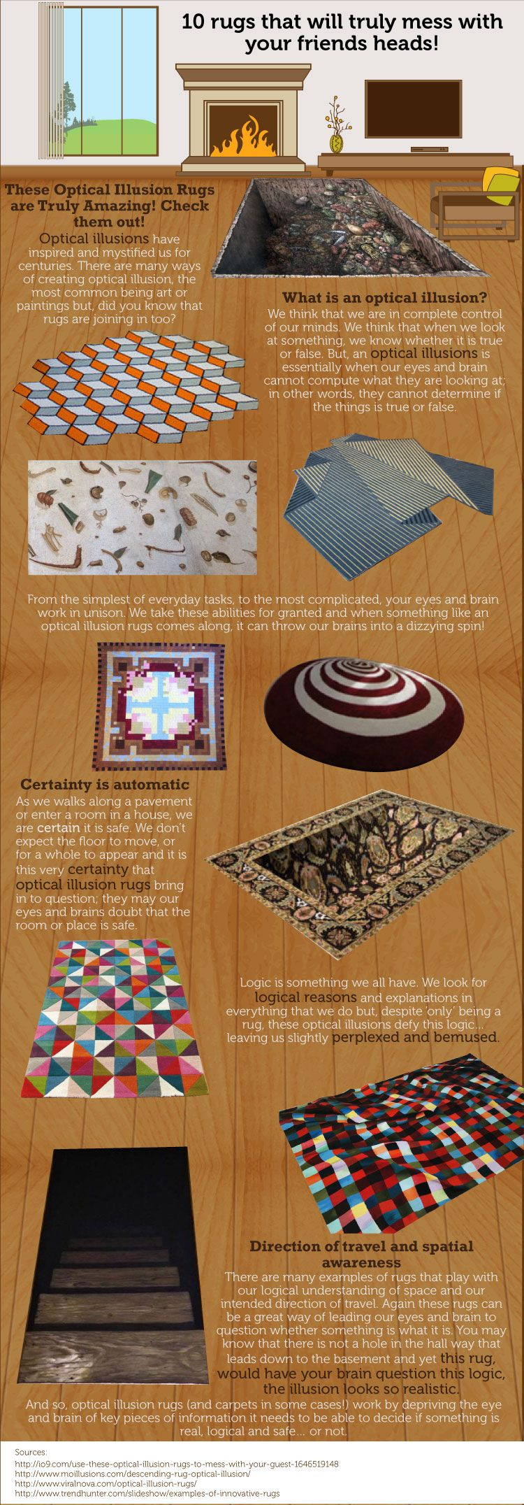 10 Rugs That Will Truly Mess With Your Friends Heads #infographic