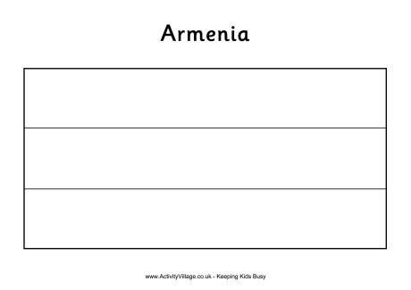 Armenia Colouring Flag Armenia Color Colouring Printables