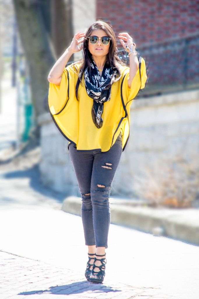 cape, summer, ootd, distressed jeans, diy, yellow and black, street style, petite fashion, petite , alexander mcqueen, stella mccartney