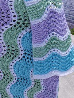 The Springtime Wavy Blanket Uses Garter Stitch Eyelets
