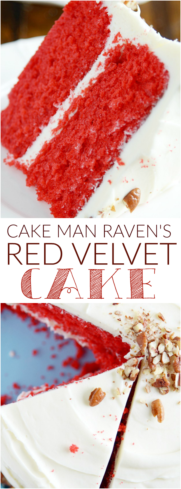Cake Man Raven s Red Velvet Cake with Cream Cheese Frosting - Something Swanky #creamcheesefrosting