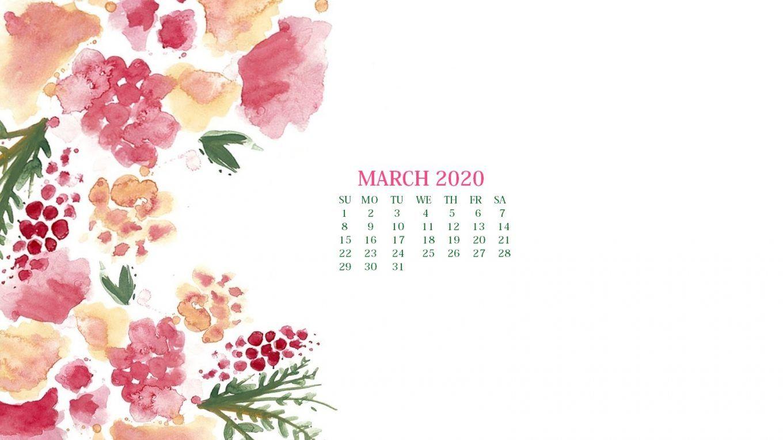March 2020 Calendar Wallpaper - Desktop and iPhone
