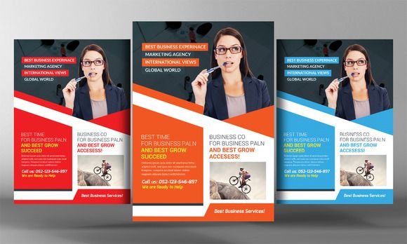 Corporate Business Flyer Template by Business Te\u2026 Creative Designs