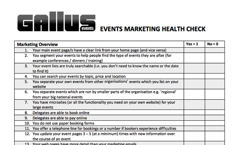 EventMarketingChecklistPng  Domestic Hints    Event