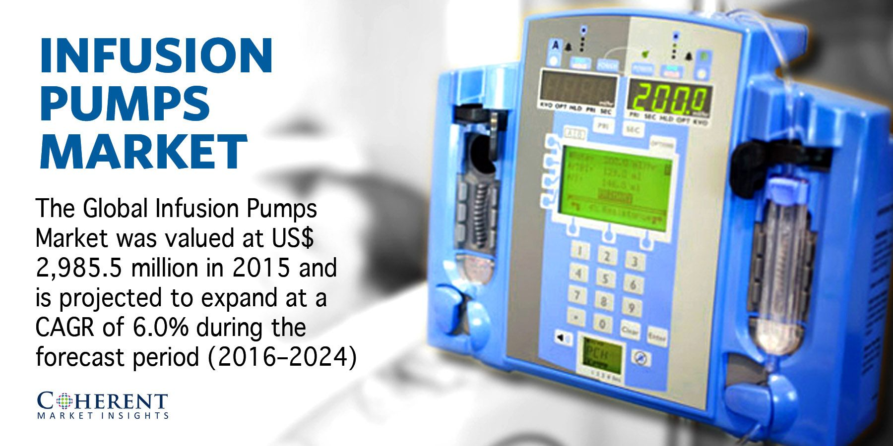 Increasing number of applications of infusion pumps in the