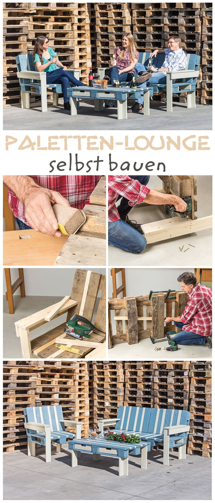 gartenm bel aus paletten diy m bel aus europaletten pinterest m bel palette und garten. Black Bedroom Furniture Sets. Home Design Ideas
