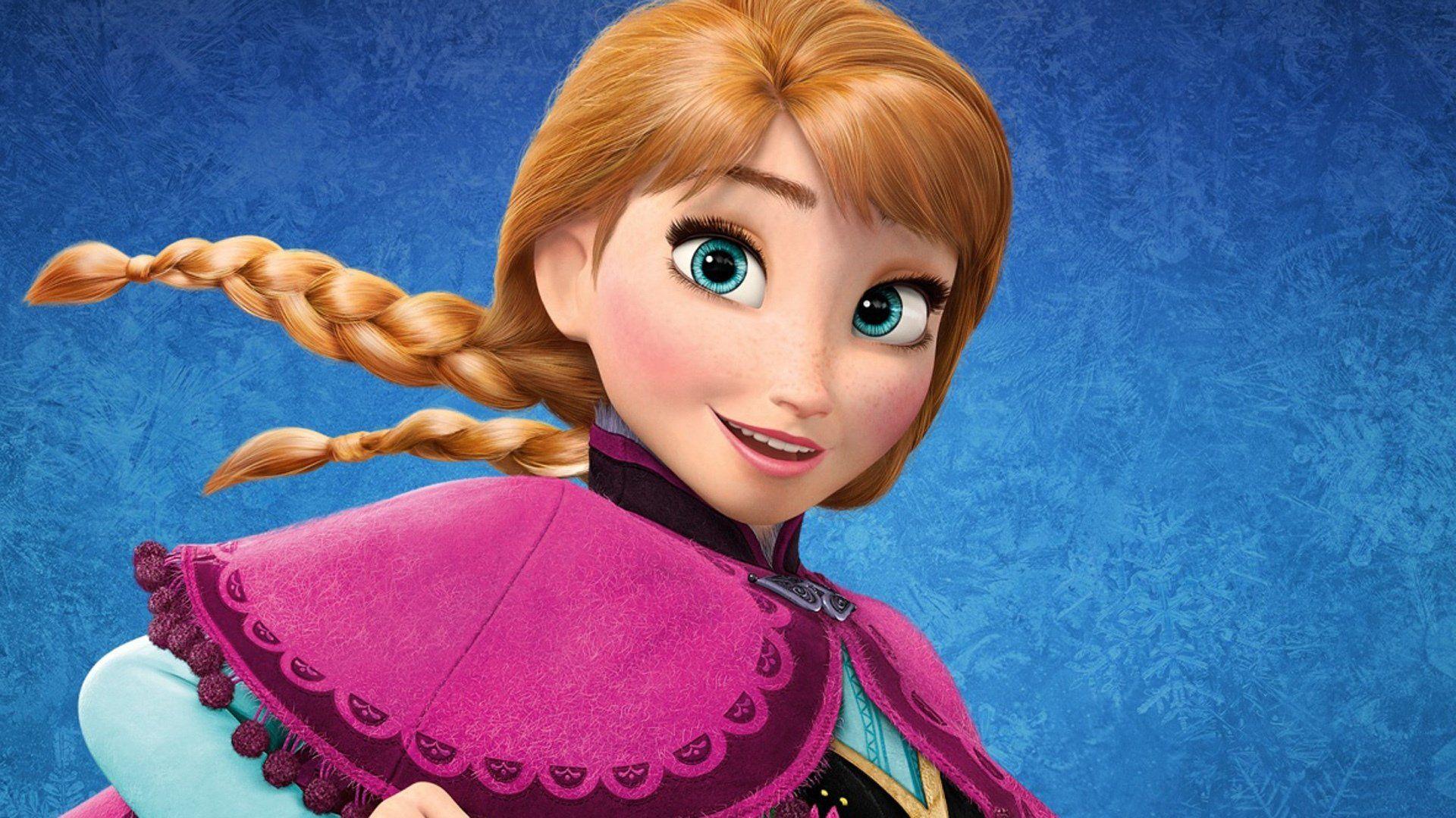 Cute Princess Anna Disney Frozen Wallpaper Vinyal Cuts