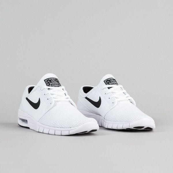 Nike SB Stefan Janoski Max Shoes White Black ( 78) ❤ liked on Polyvore  featuring shoes 0e03309c0