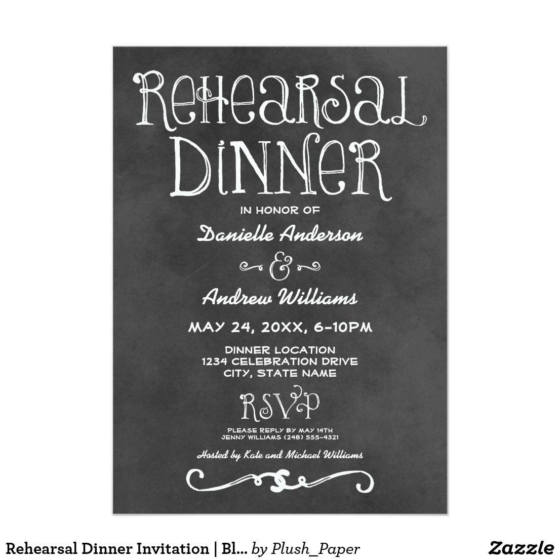 rehearsal dinner invitation black chalkboard charming chalkboard