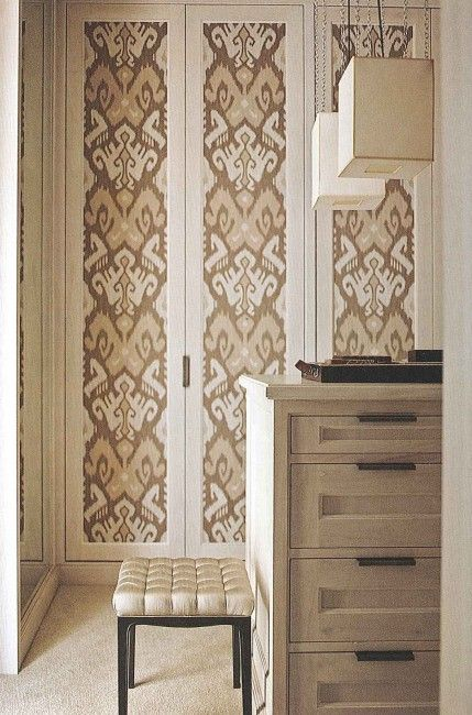 Beautiful Way To Dress Up Old Bifold Doors Paint And Stencil Or Wallpaper