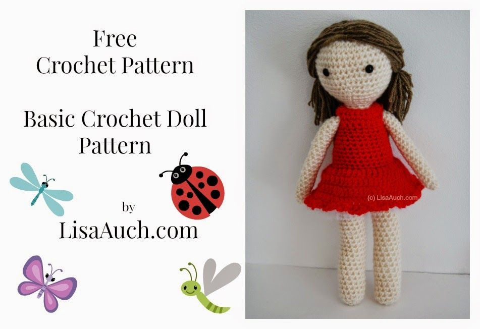 free crochet doll pattern how to crochet a basic doll | Dockor ...