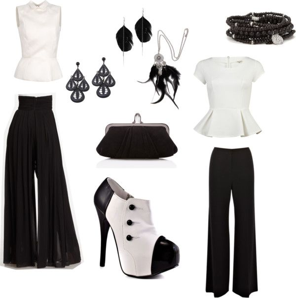 40's Retro Shoes & Stove Pipe Pants, created by asvh on Polyvore