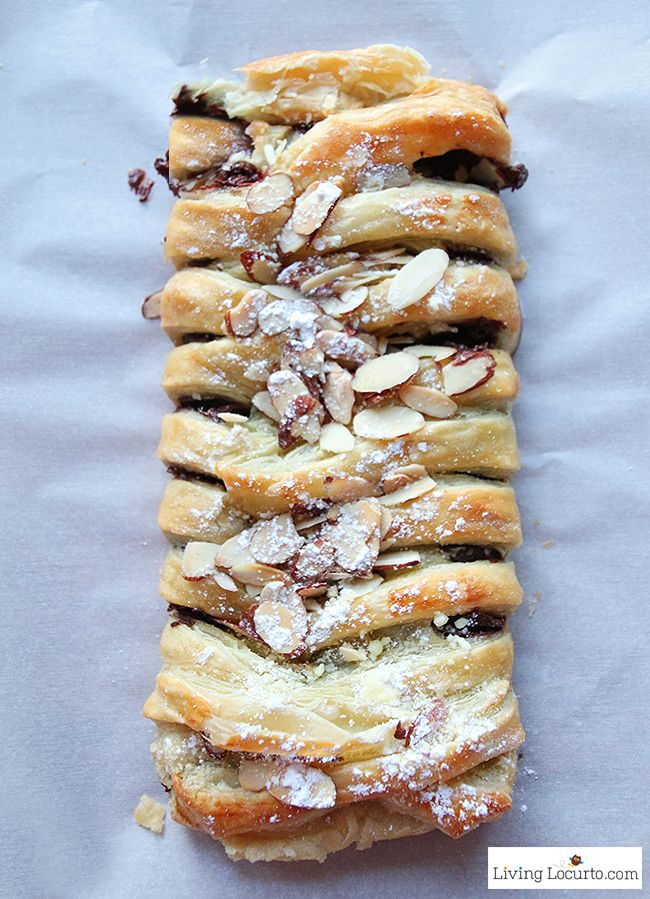 Chocolate Braid Recipe | Easy Puff Pastry Dessert or Breakfast