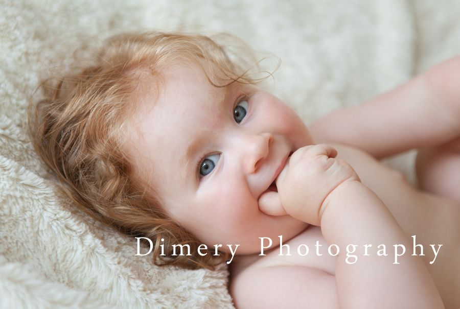 Blue Eyes Strawberry Blond Hair Natural Light Baby Photography