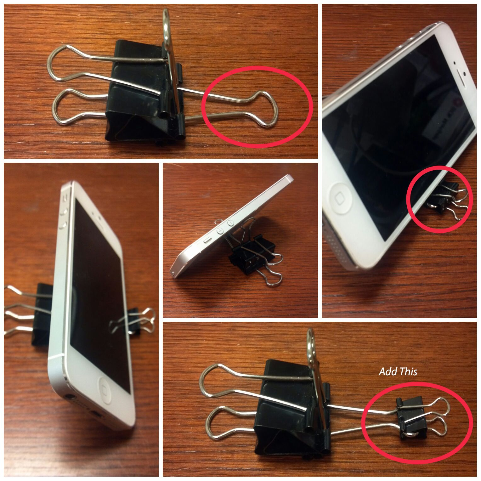 How To Make A Phone Stand With Binder Clips